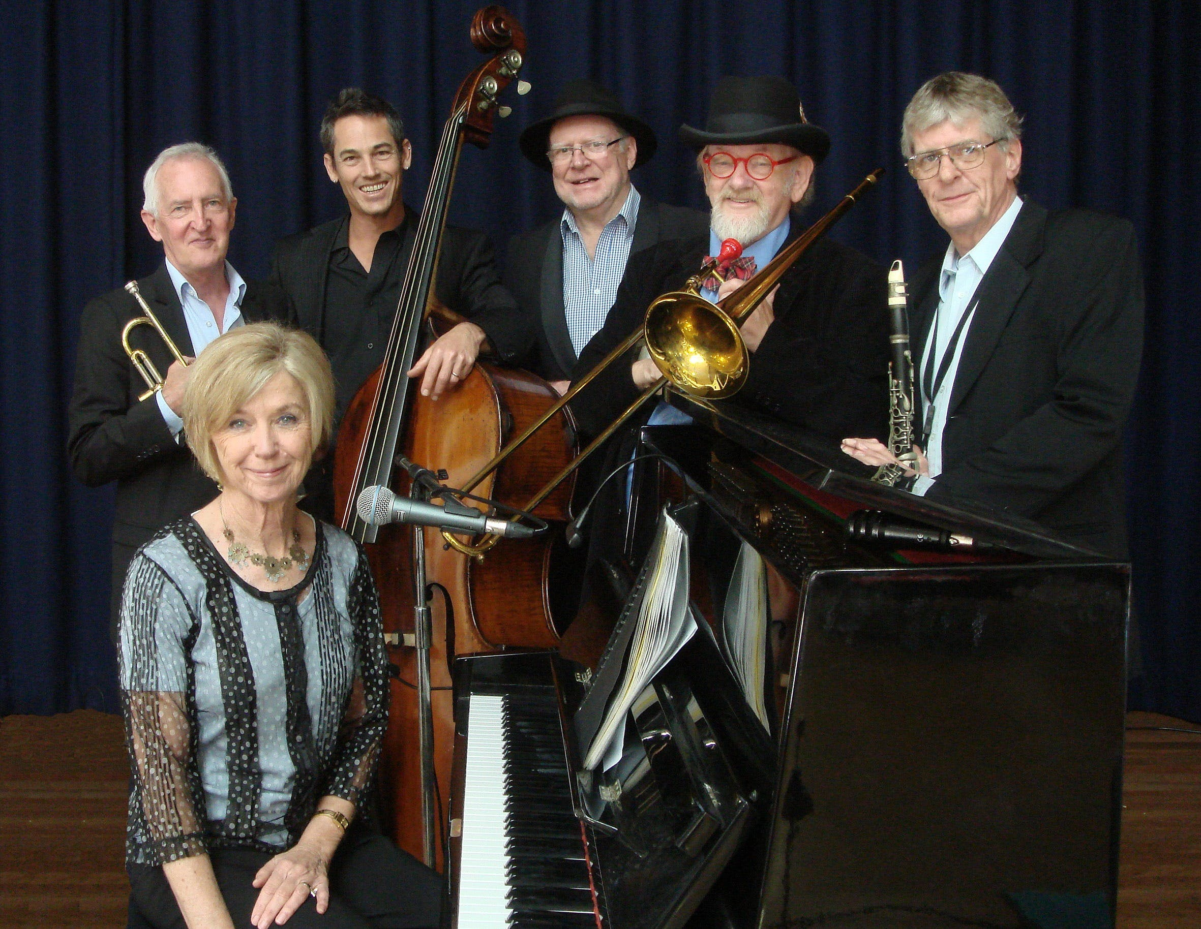 The Caxton Street Jazz Band in the Swigmore Hall at Robert Channon Wines - Accommodation Gold Coast